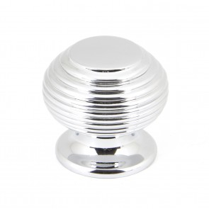 Beehive Cabinet Knobs - Polished Chrome