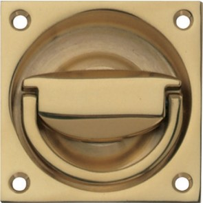 Flush Ring Pull Handle to Operate Mortice Latch 75 x 75 mm - Various Finishes