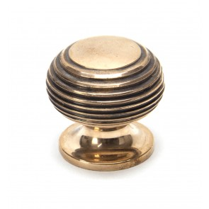 Beehive Cupboard Knobs - Polished Bronze
