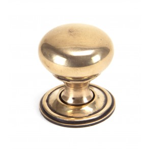 Mushroom Cabinet Knobs - Polished Bronze
