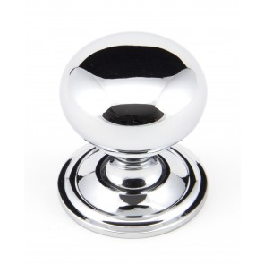 Mushroom Cabinet Knob - Polished Chrome