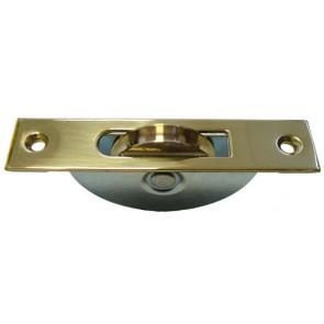 Pulley - Brass Face & Brass Wheel