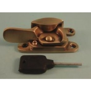 Fitch Fast Narrow Lock - Antique Brass