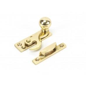 Ball Hook Fastener Non Locking - Polished Brass