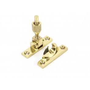 Narrow Brighton Fastener Non-Locking - Polished Brass