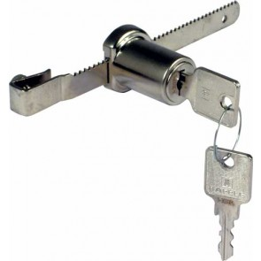 Glass Cupboard Lock 100MM - Nickel Plated