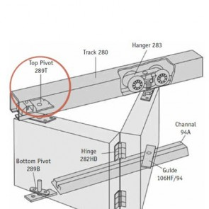 Additional Top Roller For Husky Bi-folding Systems