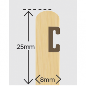 25mm x 8mm Timber Parting Bead + Carrier Primed 3m (Pack 10)