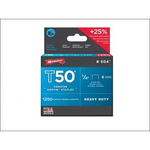 T50 Staples Box 1250 6mm 1/4in