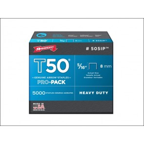 T50 Staples Box 1250 8mm 5/16in