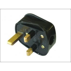 Black Rubber Plug 230 Volt 13a