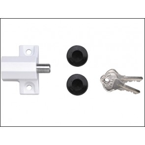 P114 Patio Door Lock Polished Chrome Finish Visi Pack