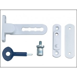 P117 Ventilation Window Lock White Finish Pack of 1