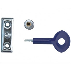 P111 Window Staylocks Satin Chrome Finish Pack of 2
