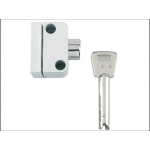 8K102 Push Button Window Lock White Finish Visi Pack