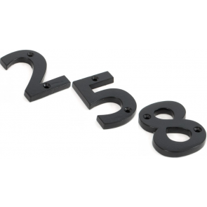 Numerals 0 to 9 - Black