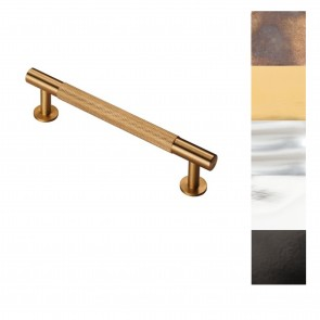 Knurled Pull Handle 158mm (128mm cc) - Various Finishes