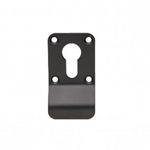 Square Euro Cylinder Pull - Matt Black