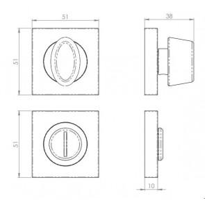 Serrozzetta Square Turn + Release - Antique Brass