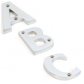 Letters A to Z - Polished Chrome