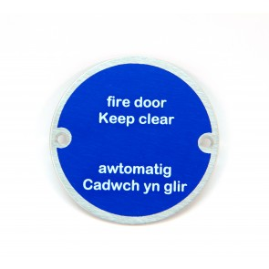 Bilingual Fire Door Keep Clear Sign - SSS