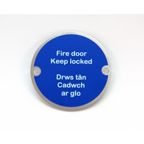 Bilingual Fire Door Keep Locked Sign - SSS