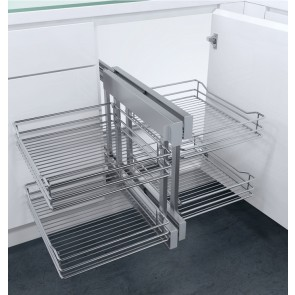 Flex Corner Pull Out Unit Linear Wire Base For 900mm or 1000mm Units (Unhanded)