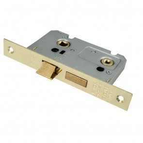 Bathroom Mortice Lock - Brass (Various Sizes)
