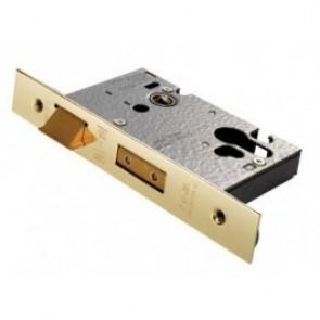Euro Profile Sash Lock - PVD Brass (Various Sizes)