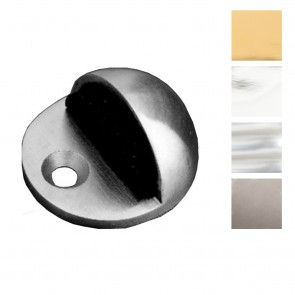 Oval Door Stop - Floor Mounted (45mm) - Various Finishes