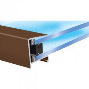 Exitex - Aluminium Roof Endclosure Brown - Various Sizes