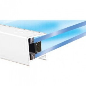 Exitex - Aluminium Roof Endclosure White - Various Sizes