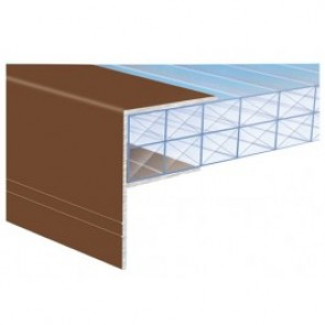 Exitex - Aluminium F-Section Brown - Various Sizes