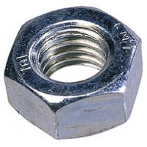 Hexagonal Full Nut - Bright Zinc Plated