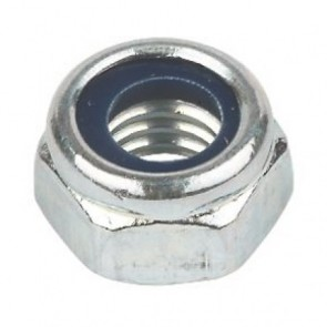 Hexagonal Locking Full Nut - Bright Zinc Plated