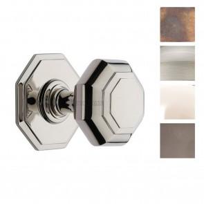 Octagonal Centre Door Knob - Various Finishes