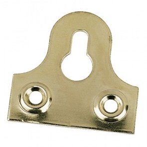 Slotted Mirror Plates - Brass Plated