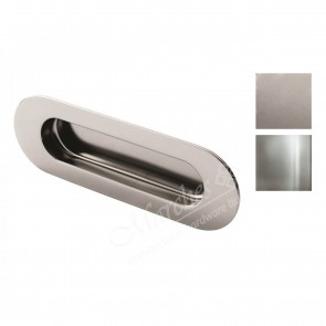 Radius Corner Flush Pull 120mm x 41mm - Various Finishes