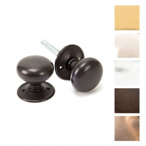 Small Mushroom Mortice/Rim Knob Sets - Various Finishes
