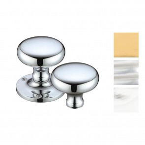 Victorian Mushroom Rim Knob Sets 57.5mm - Various Finishes