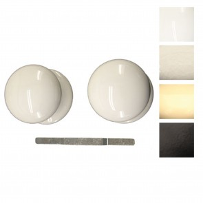 Porcelain Mortice Knob Set 60mm - Various Finishes