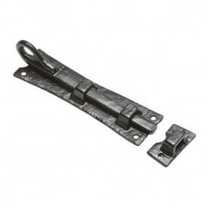 Kirkpatrick (1156) Cranked Black Monkeytail Door Bolt - Various Sizes