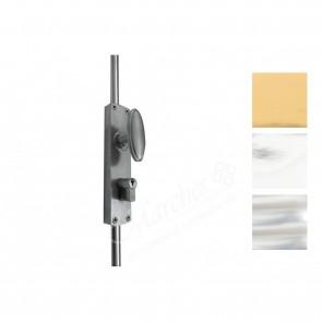 Cylinder Locking Espagnolette Door Bolts - Various Finishes