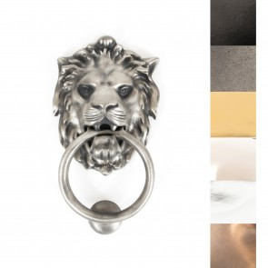 Lion Head Door Knocker - Various Finishes
