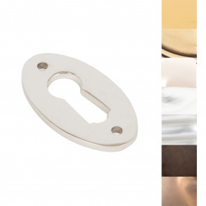 Period Oval Escutcheon - Various Finishes