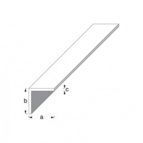Equal Sided Angle Profile - Satin Anodised Aluminium