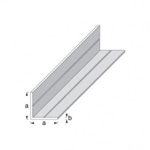 Equal Sided Angle Profile - Raw Aluminium