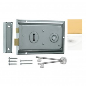 Eurospec Lipped Rim Lock - Various Finishes