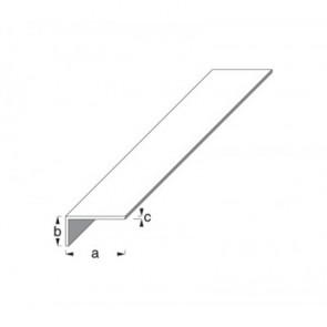 Unequal Sided Angle Profile - Silver Anodised Aluminium
