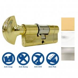 3* Euro Cylinder & Thumbturn - Various Sizes & Finishes